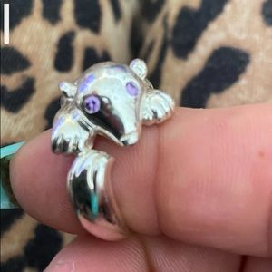 Silver critter ring